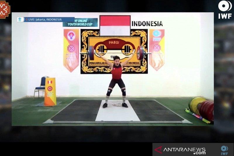 Lifter Indonesia Muhammad Faathir raih emas di Kejuaraan Dunia Remaja Virtual 2020