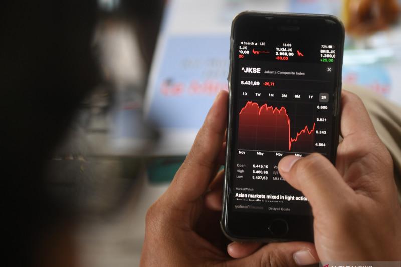IHSG BEI akhir pekan melemah seiring koreksi bursa saham Asia