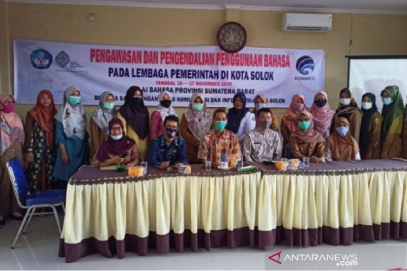 Dinas Kominfo Solok gelar pengawasan penggunaan bahasa Indonesia baku bagi lembaga pemerintah