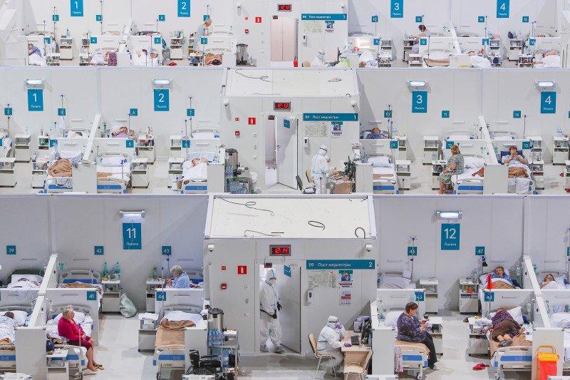 Moskow ubah arena seluncur es jadi lokasi perawatan pasien COVID-19