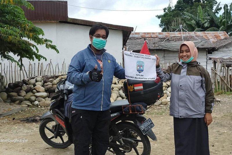 Kisah Hasan dan Nining bermotor 13 ribu kilometer dari Sulawesi demi ikut MTQ di Padang