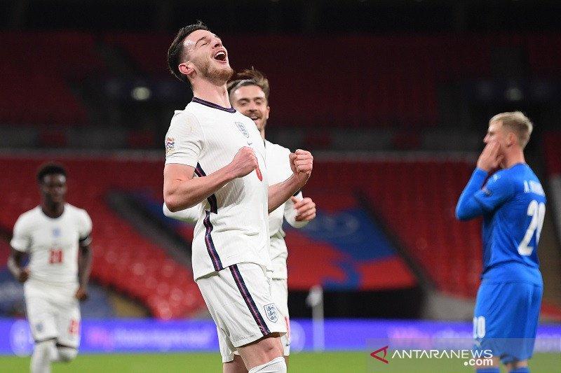 Inggris tutup kiprah di Nations League dengan menang lawan Islandia 4-0