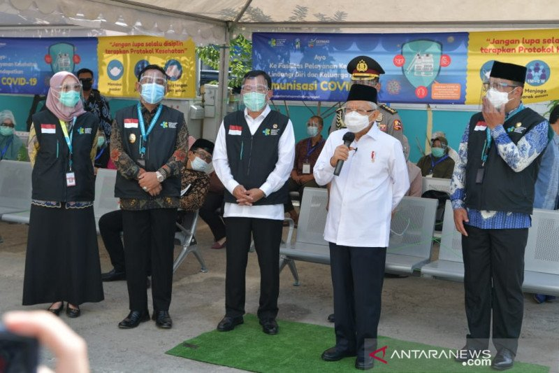 Wapres sebut kantor TNI/Polri bisa untuk tempat vaksinasi COVID-19