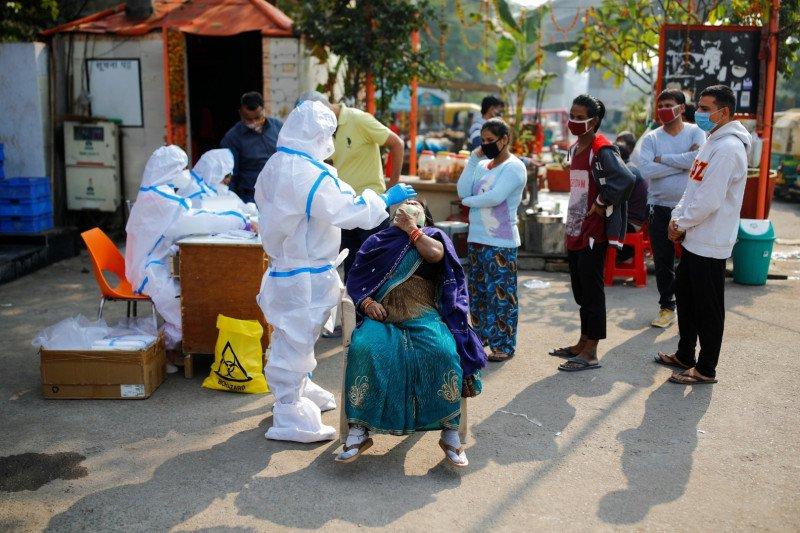 Total kasus infeksi virus corona di India lewati 9 juta