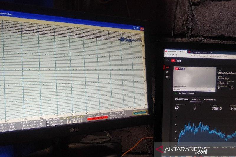 Pos Pantau Merapi catat gelombang seismik mulai dinamis
