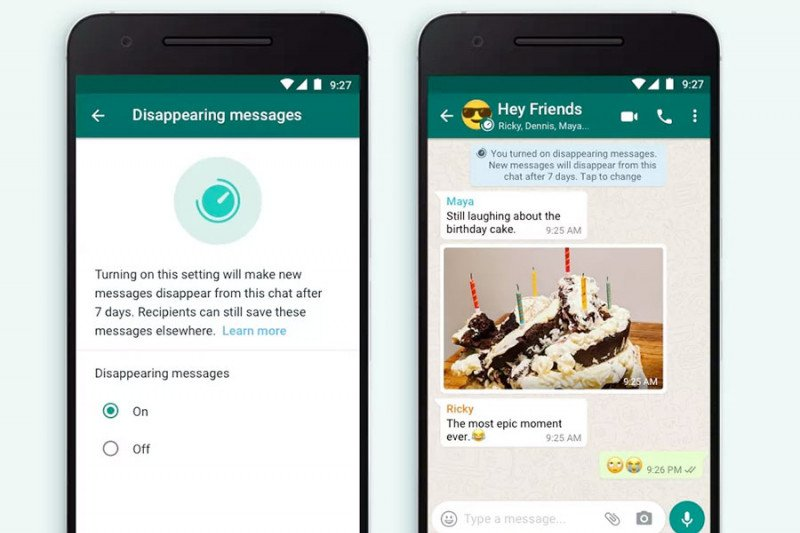 Begini cara aktifkan fitur pesan menghilang di WhatsApp
