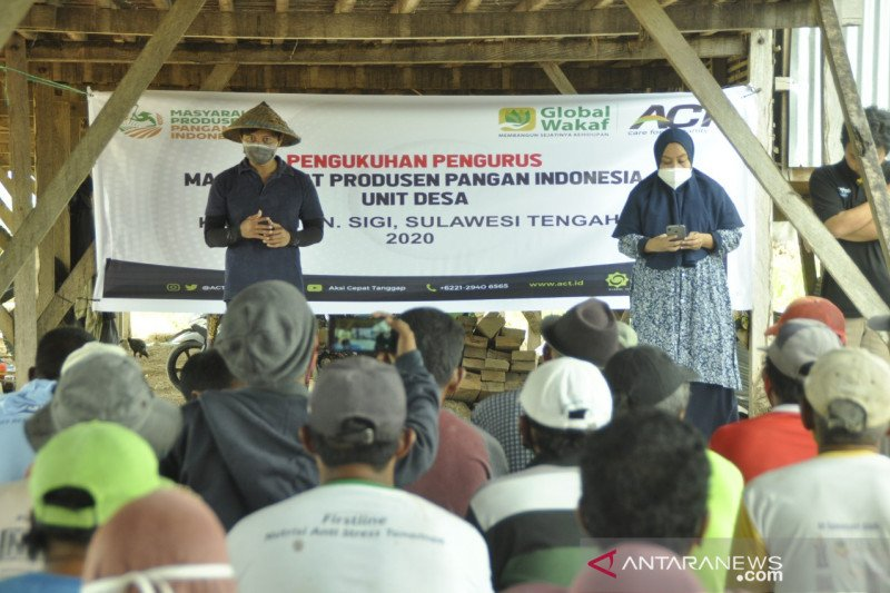 ACT Sulteng  gagas pembentukan organisasi petani di Sigi