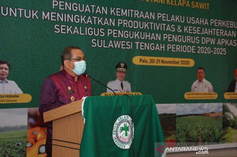 Pemprov Sulteng  harap Apkasindo bantu pemerintah bina petani sawit