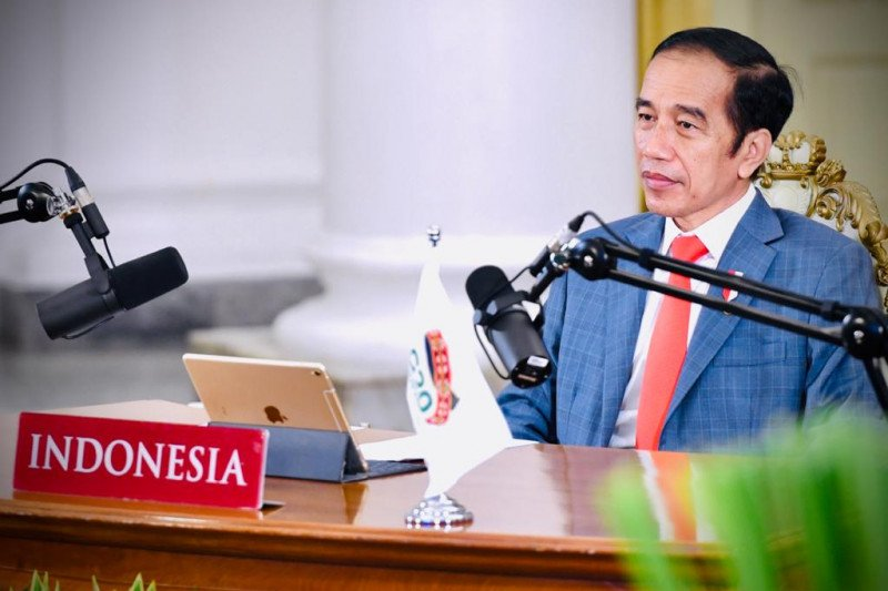 Presiden serahkan DIPA, dana transfer daerah dan dana desa 2021