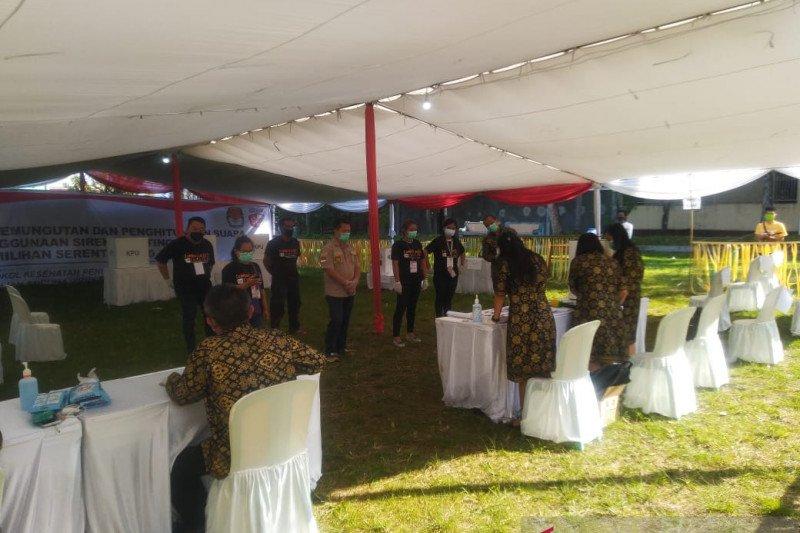 KPU Manado gelar simulasi pemungutan suara sesuai protokol COVID-19