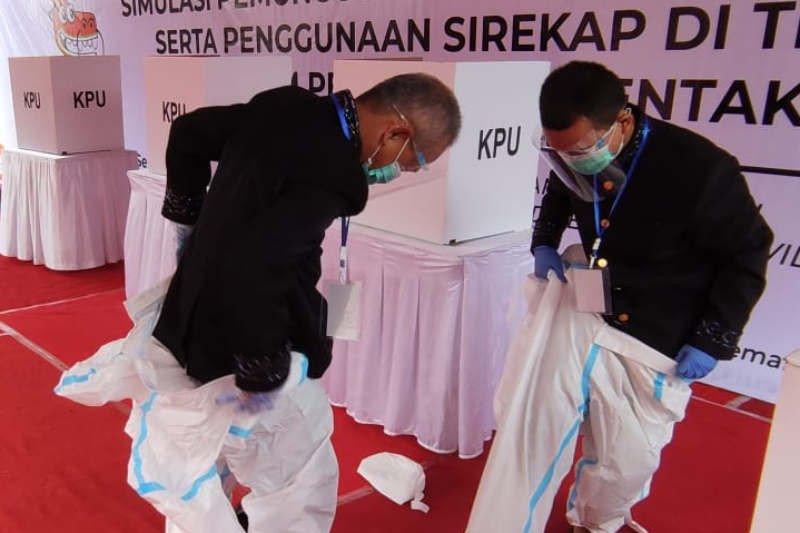 KPU Kota Semarang gelar simulasi pencoblosan pilkada