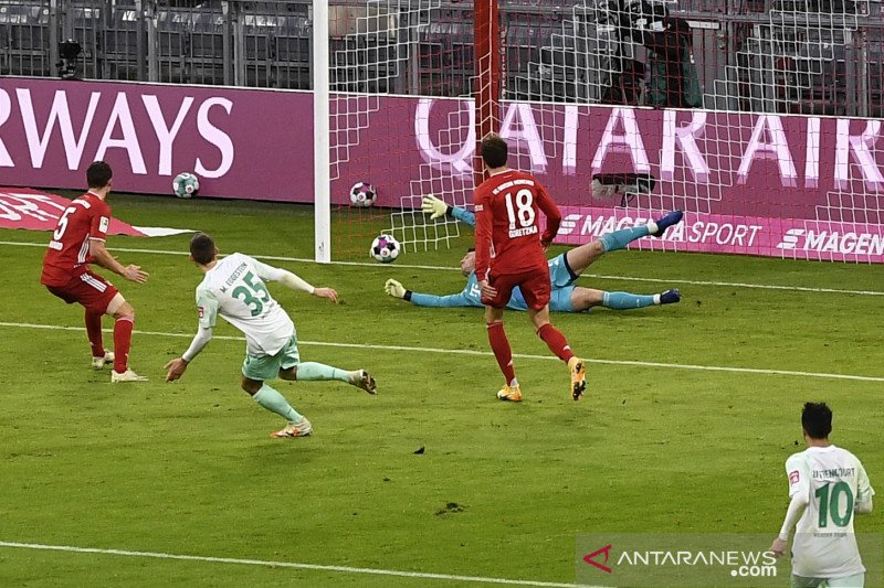 Werder Bremen berbagi poin dengan Bayern Munich