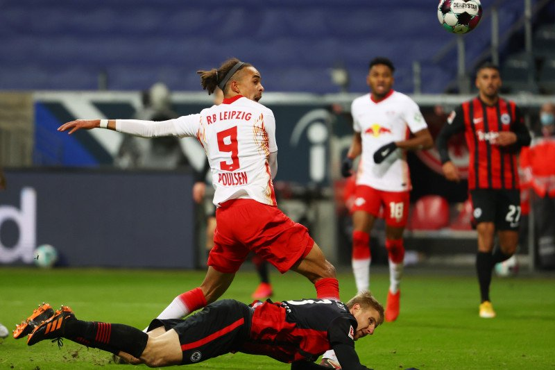 Gol Poulsen amankan satu poin untuk Leipzig dari  Frankfurt