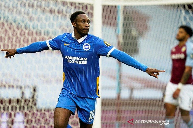 Brighton  & Hove Albion kemenangan perdana di Villa Park