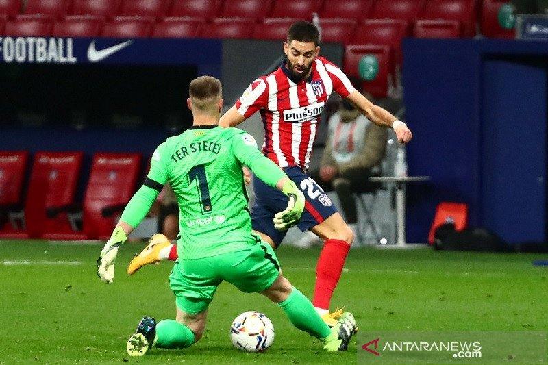 Atletico tundukkan Barcelona berkat gol pembeda Yannick Carrasco