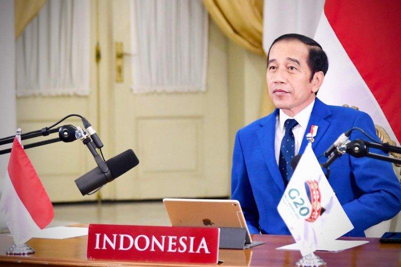 Presiden Jokowi ikuti rangkaian agenda hari kedua KTT G20 secara virtual