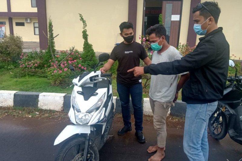 Polres Lombok Utara tangkap warga Sukadana pencuri motor