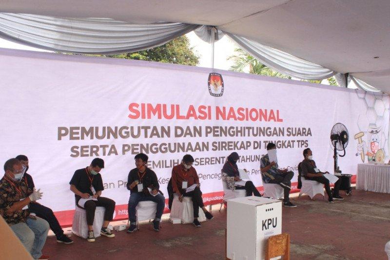 KPU Kota Depok gelar simulasi pilkada sesuai protokol kesehatan COVID-19