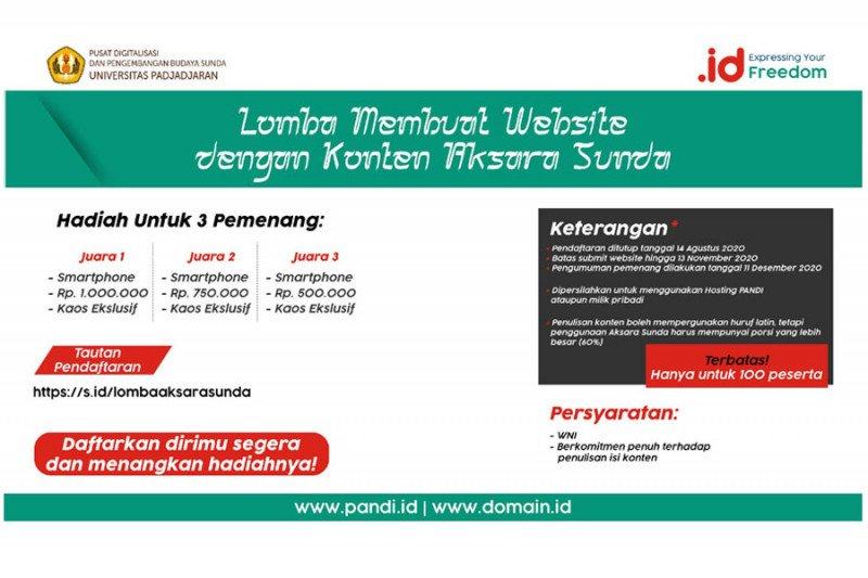 Pendaftaran lomba web berbahasa Sunda diperpanjang