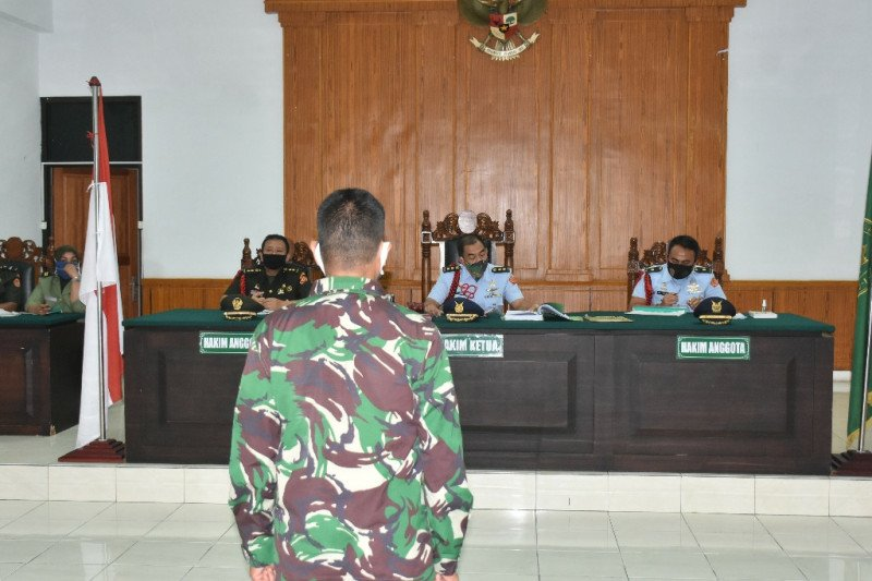 Pengadilan Militer Medan vonis 20 tahun Praka Marten bunuh istri