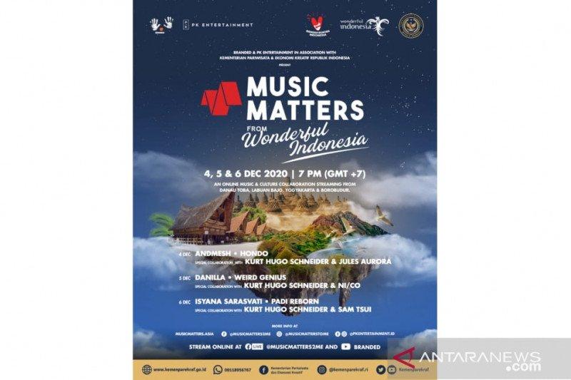 """Konser """"Music Matters"""" dihelat di tiga destinasi wisata prioritas"""