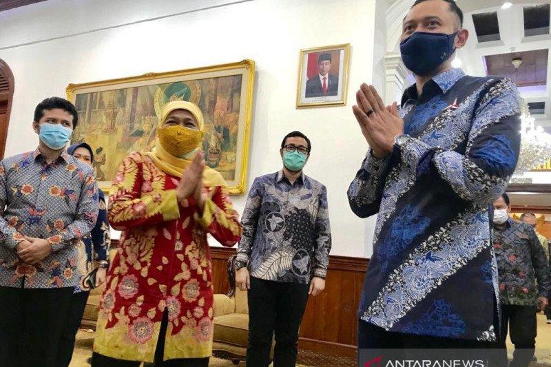 AHY apresiasi kinerja Pemprov Jatim kendalikan kasus COVID-19