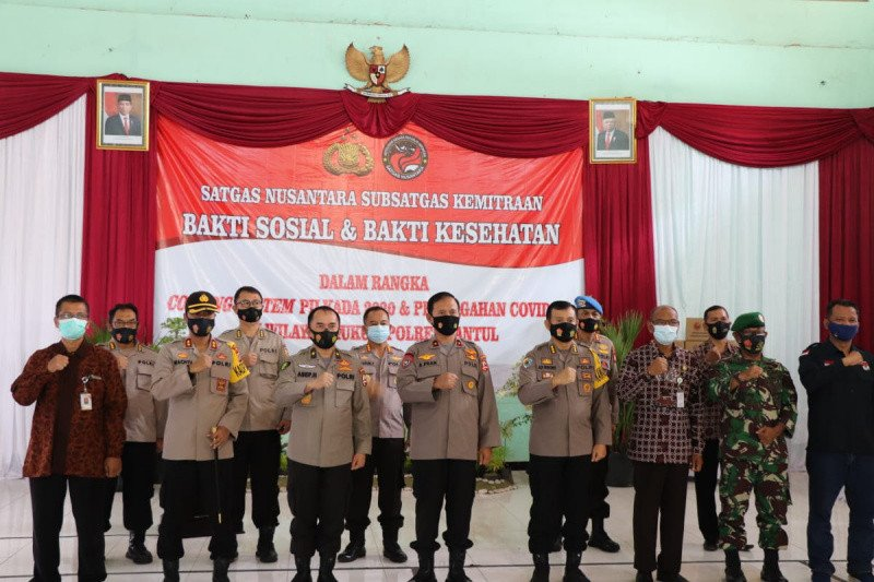 Satgas Nusantara Polri ajak masyarakat jaga kondusivitas selama pilkada