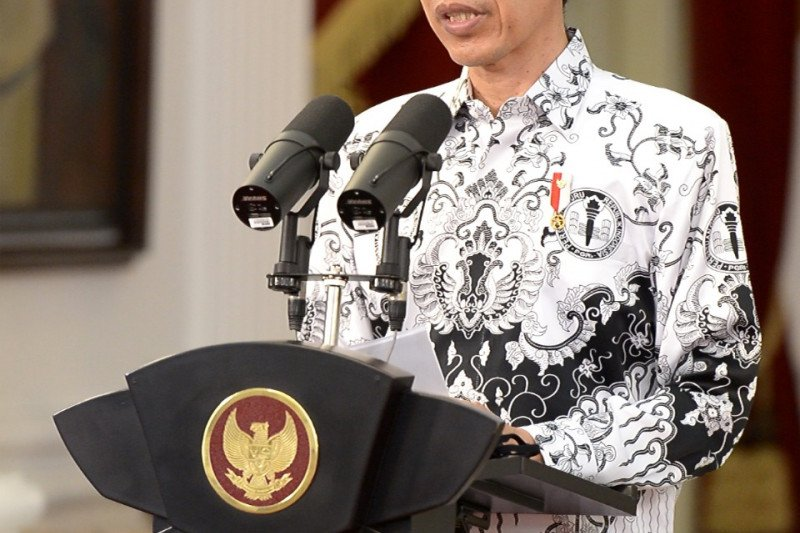 Presiden Joko Widodo apresiasi dan sampaikan terima kasih pada guru