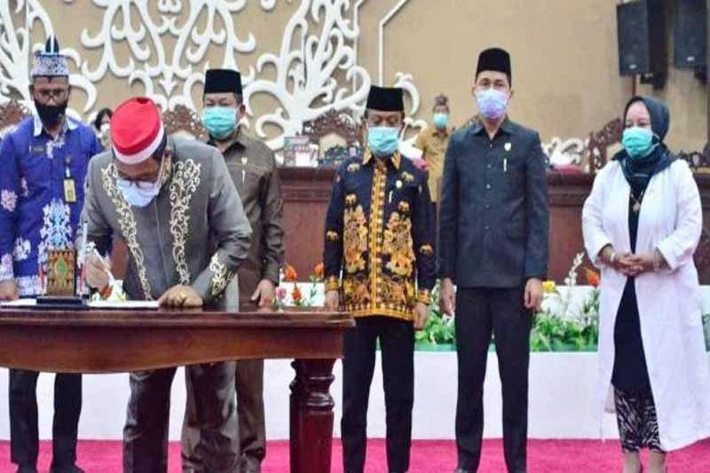 Raperda APBD tahun 2021 Provinsi Kalteng diajukan ke Kemendagri