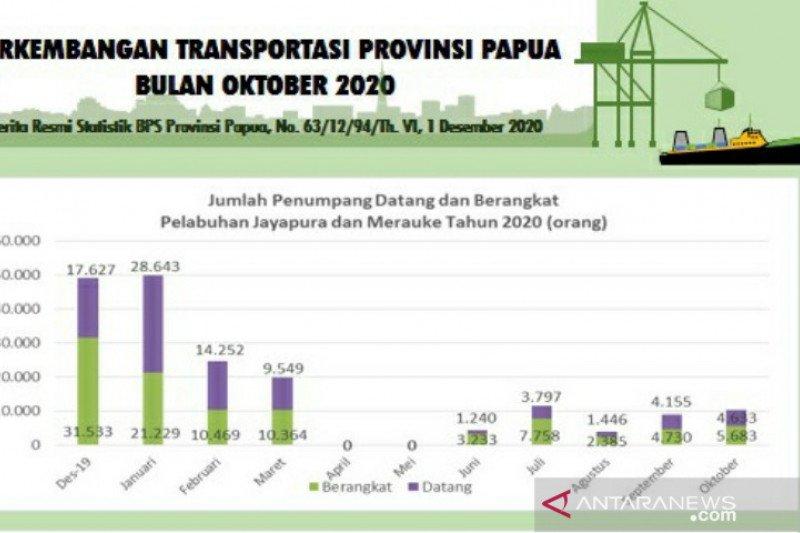 BPS Papua: jumlah penumpang berangkat tercatat 5.683 orang