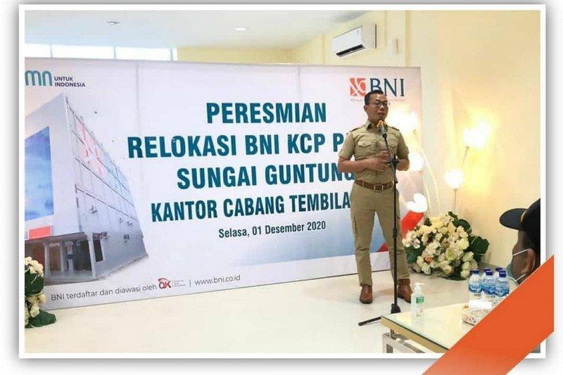 Relokasi BNI KCP Pasar Sungai Guntung kantor Cabang Tembilahan semakin mudah diakses