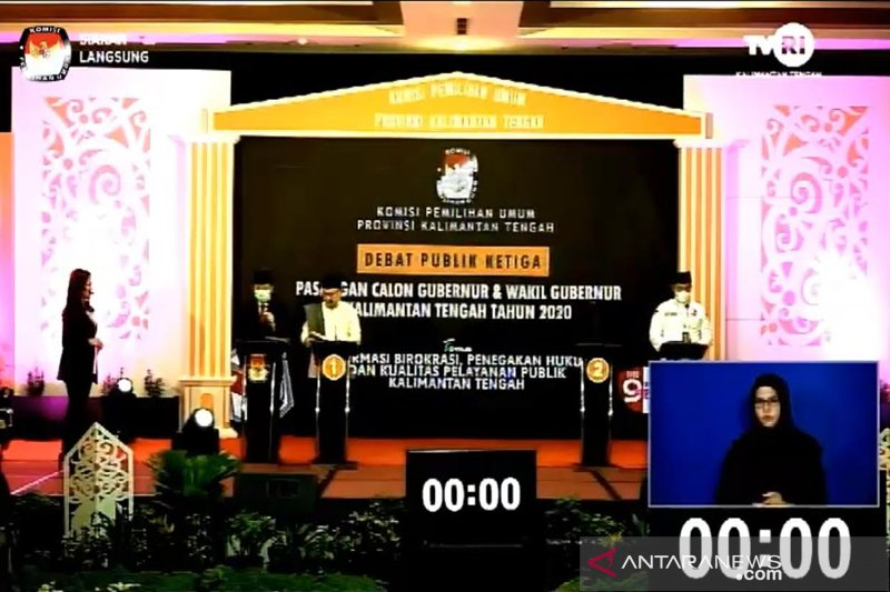 Cagub petahana kembali absen debat publik terakhir Pilkada Kalteng 2020