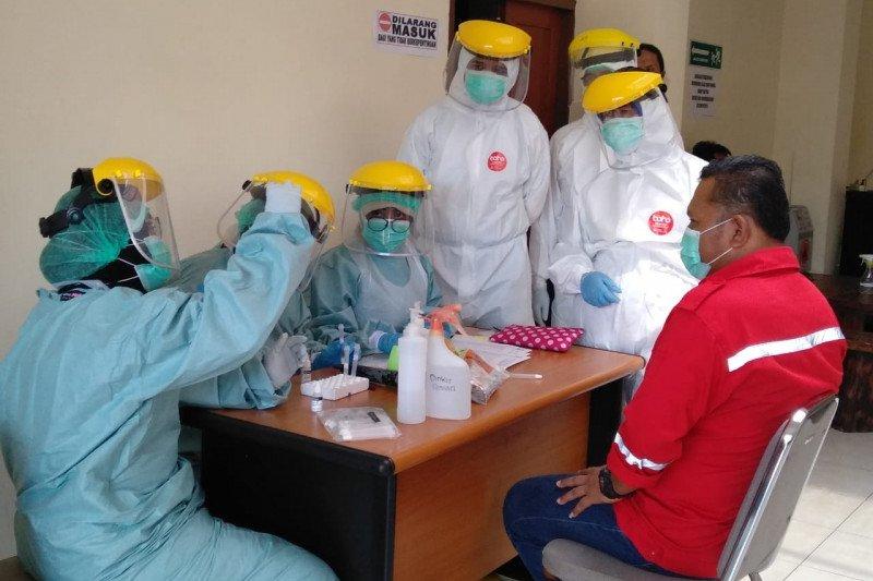 BPBD Sleman lakukan tes COVID-19 petugas-relawan di Posko Utama Merapi