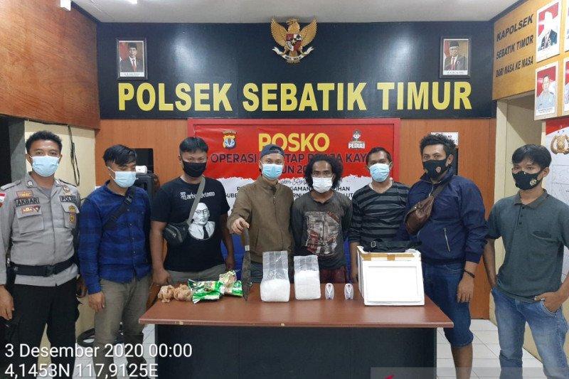 Dua warga negara Filipina ditangkap membawa 2.033 gram sabu di Nunukan