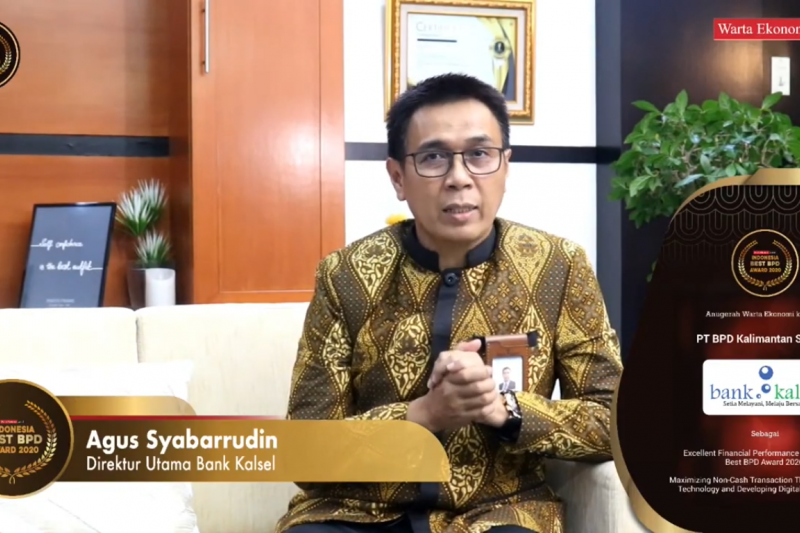 Bank Kalsel raih penghargaan Indonesia Best BPD Award 2020