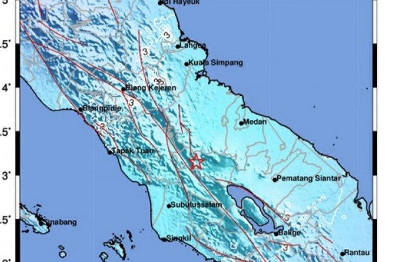 Aktivitas sesar lokal memicu gempa di Karo