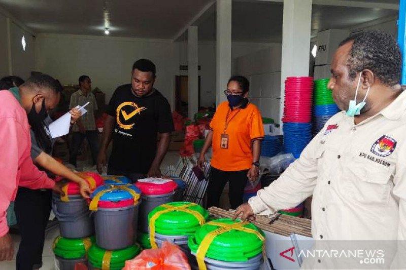 KPU Keerom mulai distribusi logistik Pilkada serentak