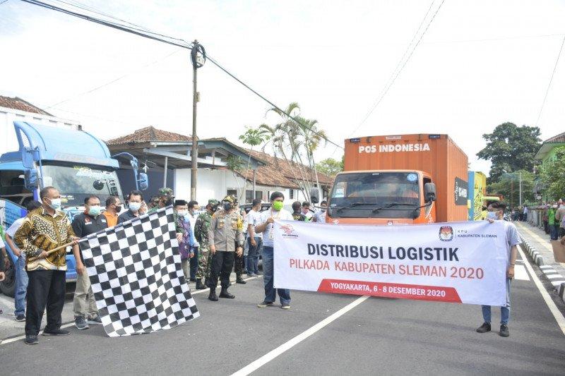 KPU Sleman mendistribusikan logistik pilkada dengan prokes ketat