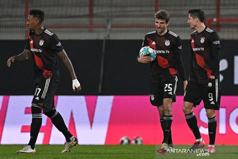 Lewandowski menyelamatkan Bayern dari ancaman kekalahan di markas Union