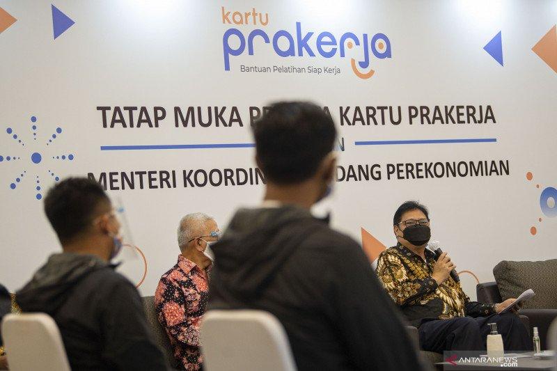 Menko Airlangga:  Layanan digital kartu prakerja jadi reformasi inovasi