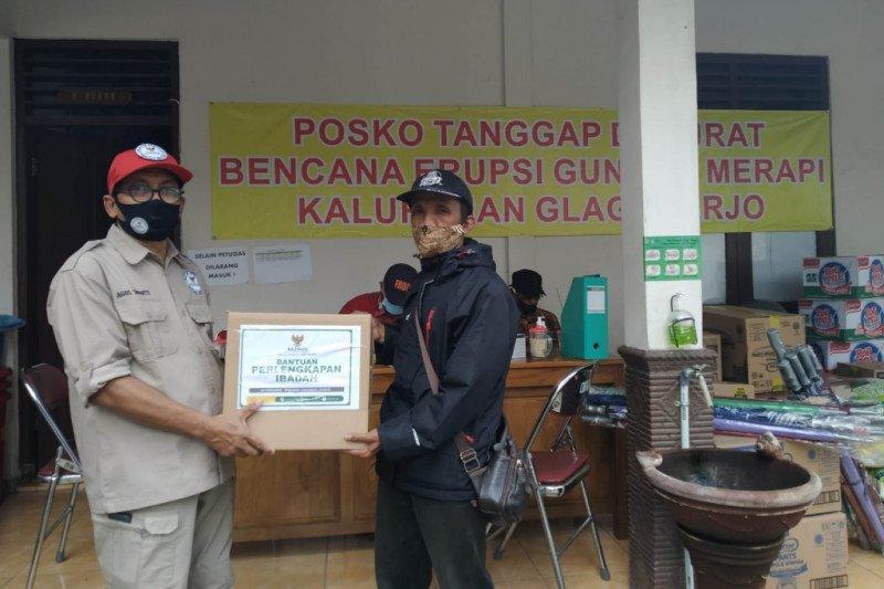 Baznas DIY dan FOI salurkan makanan dan alat ibadah untuk pengungsi Merapi