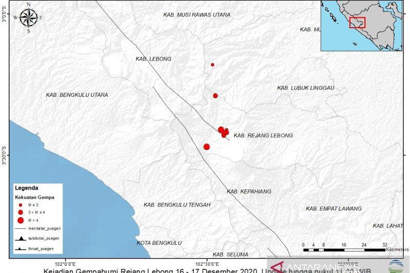 Bengkulu diguncang gempa 5 SR
