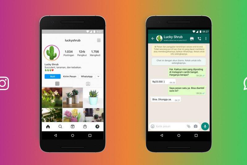 Instagram kini terhubung dengan chat  WhatsApp