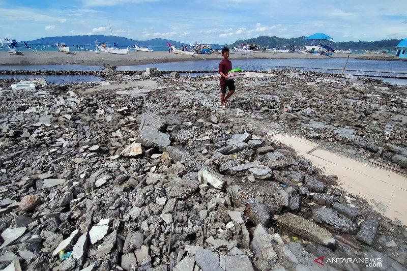 Bekas tsunami Desa Tompe Donggala