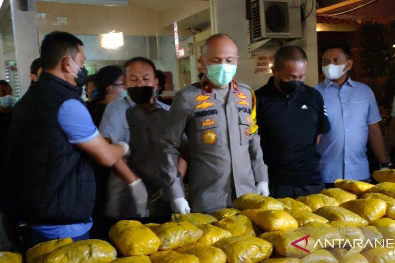 Polda Metro sita 201 kg sabu di Hotel Wir Petamburan