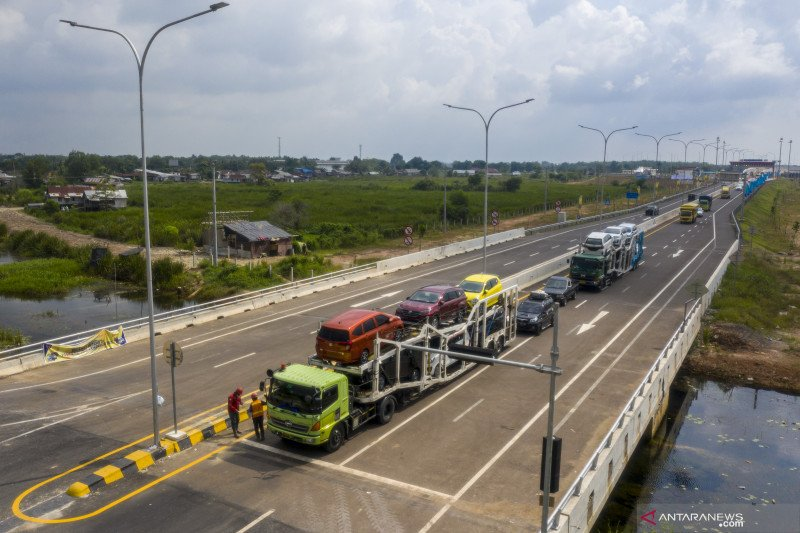 Presiden resmikan Jalan Tol  Kayuagung-Palembang