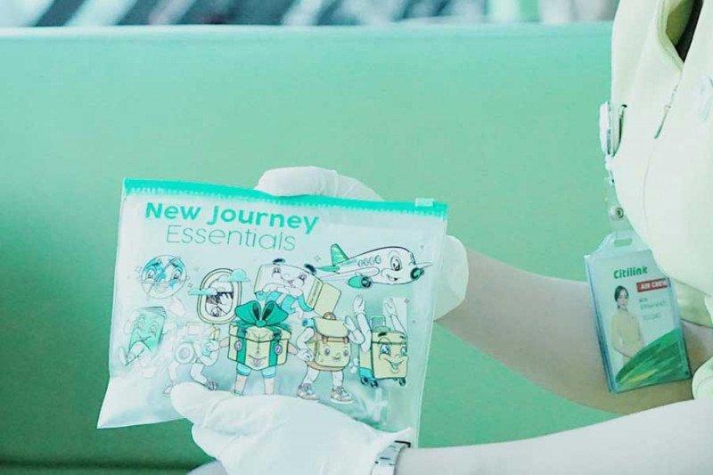 Penumpang Citilink dibekali vitamin dan hand sanitizer