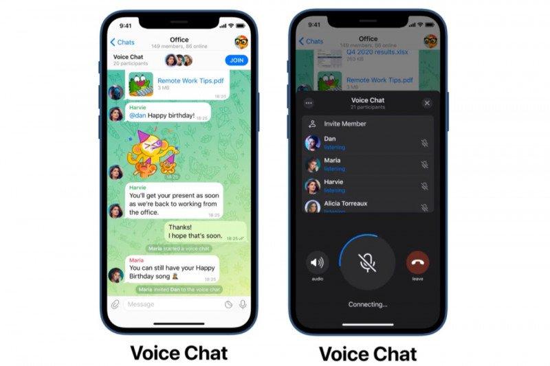 Telegram menambah fitur obrolan suara grup