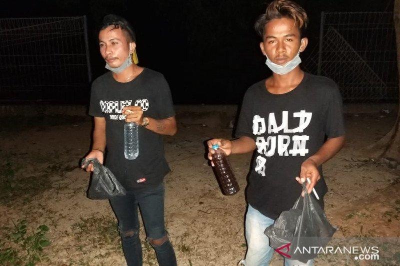 Personil Pengamanan Nataru Tambelan amankan pemuda mabuk