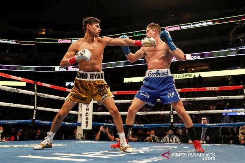 Ryan Garcia kalahkan Luke Campbell TKO di ronde ketujuh